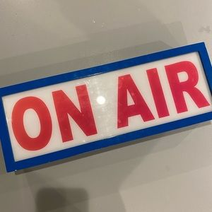 On Air Lightbox Sign